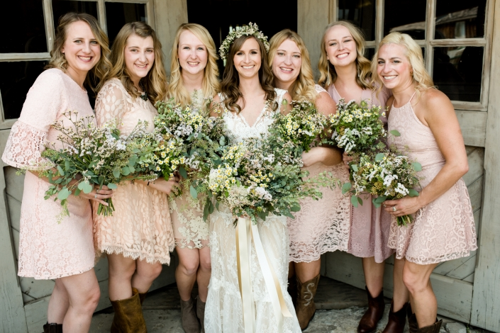Montana Wedding Photographer Virginia City bridesmaids portrait