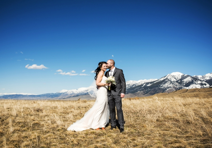 Montana Wedding Photography Chico Hot Springs couple portrait