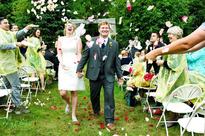 Alaska Wedding Photographer just married flower walk