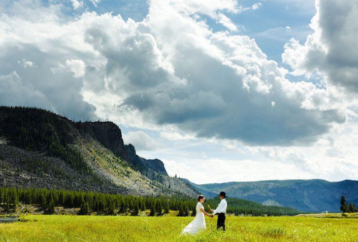 Bozeman Wedding Photographer Yellowstone National Park portrait