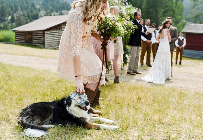 Bozeman Wedding Photographer Virginia City wedding ceremony dog