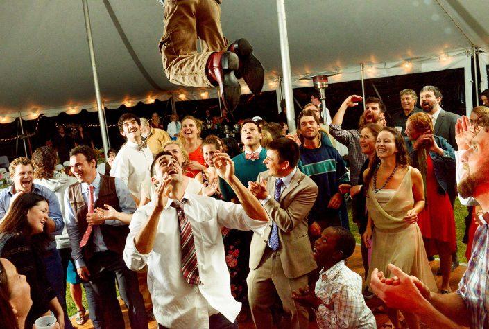 Montana Wedding Photography dancing throwing kids