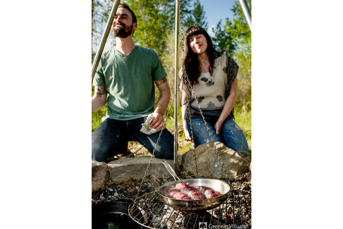 Bozeman Morel Mushroom Hunting Couples Portrait Photography