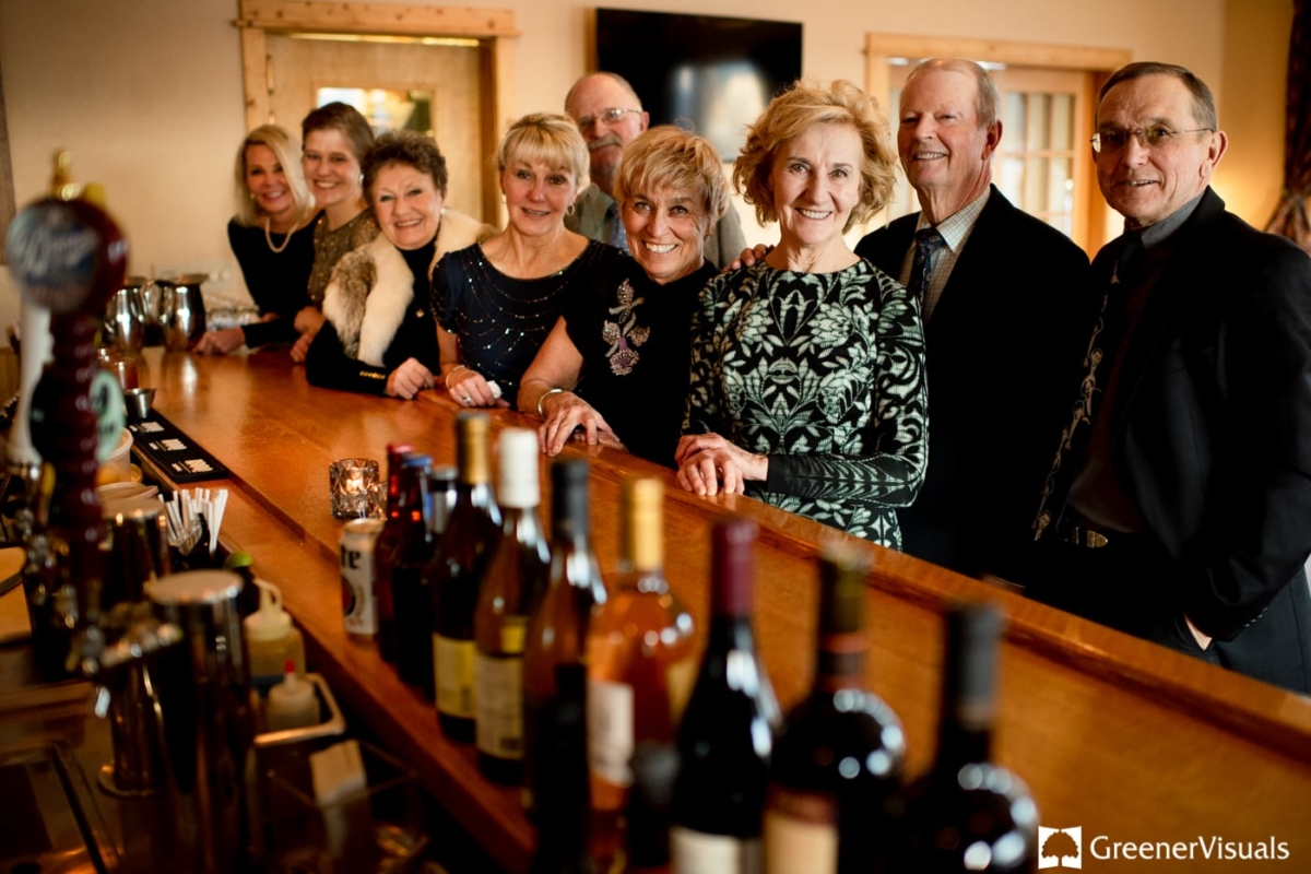 Family Portrait Gallatin River Lodge Winter Wedding