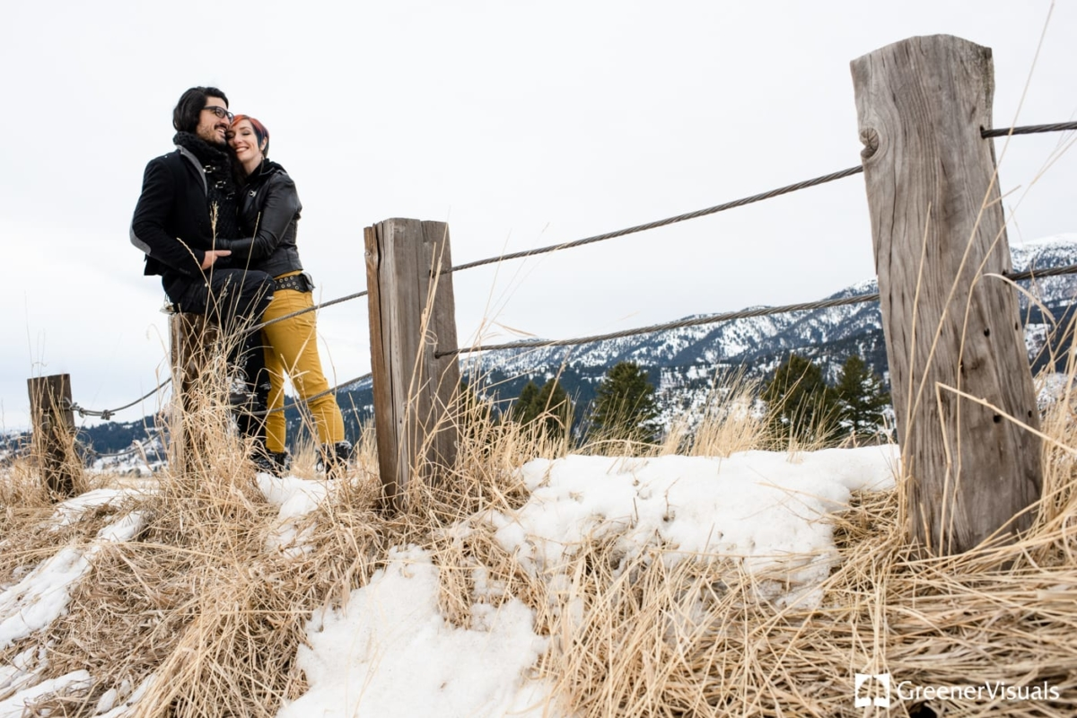 Winter Engagement Portrait Photography