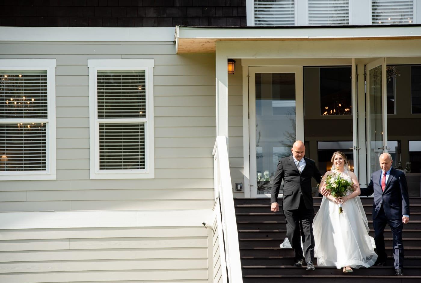 Bride-walk-with-dads-Trinity-Tree-Farm-Wedding-Photos-Greener-Visuals