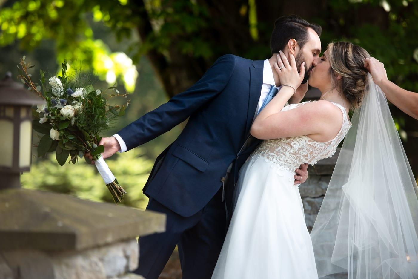 Wedding-Kiss-Trinity-Tree-Farm-Wedding-Photos-Greener-Visuals