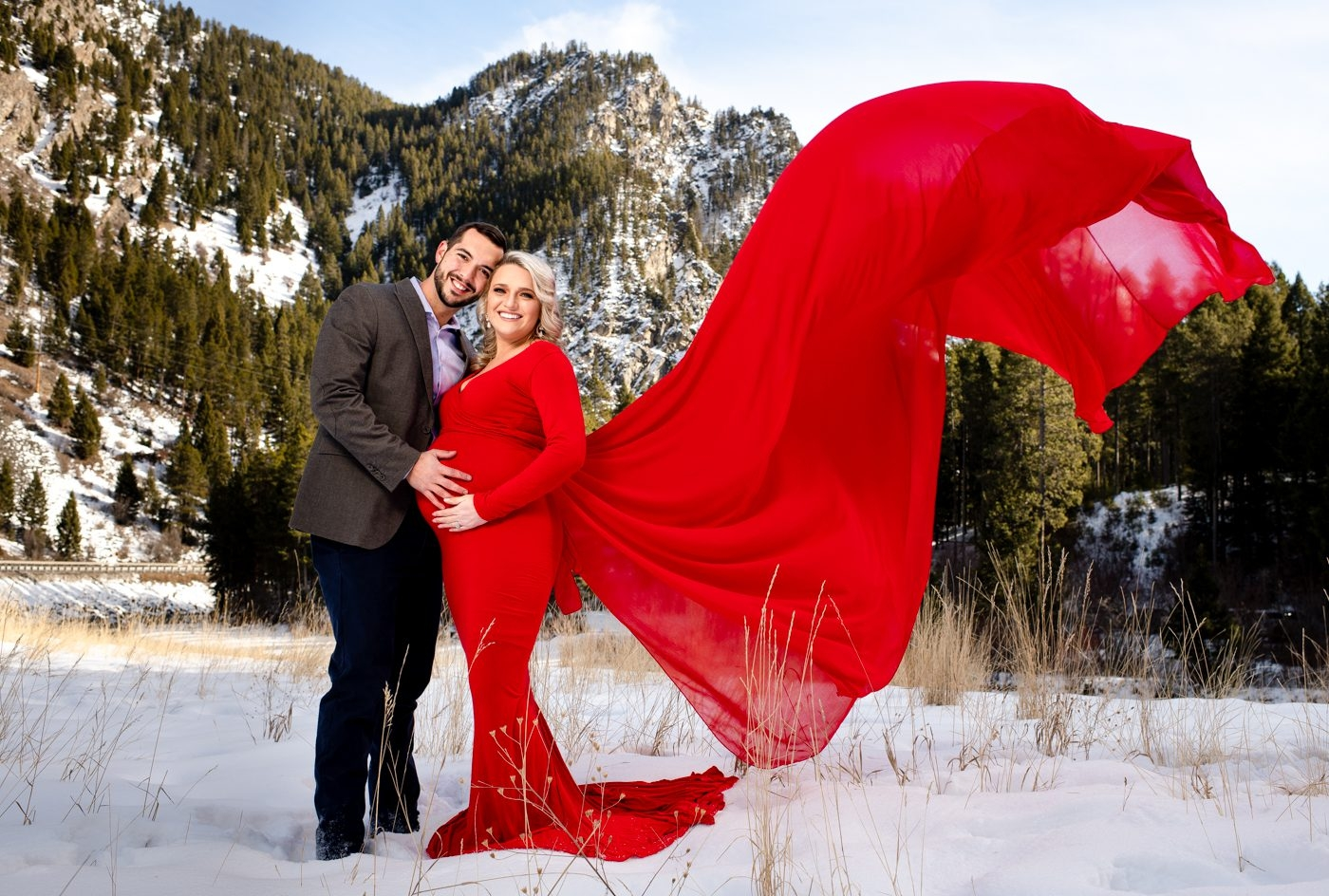 Maternity-Fashion-Dress-Photo-Experience-Big-Sky-Montana