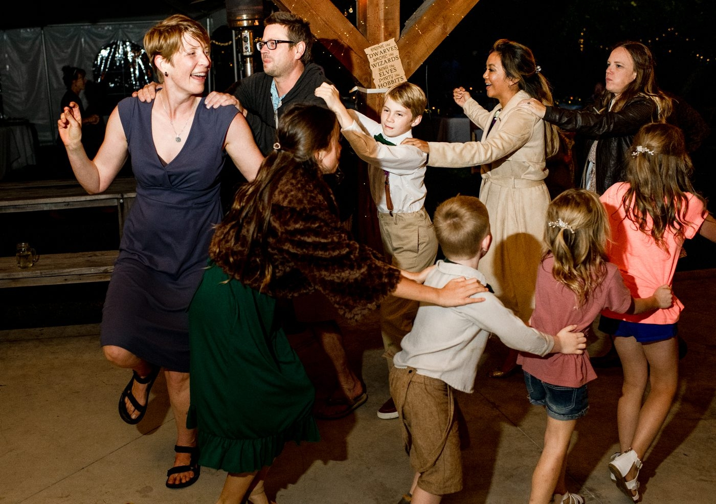 The-Nest-on-Swan-River-Wedding-Day-conga-line-dancing